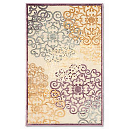 Safavieh Paradise Large Floral 2-Foot 7-Inch x 4-Foot Rug in Mauve