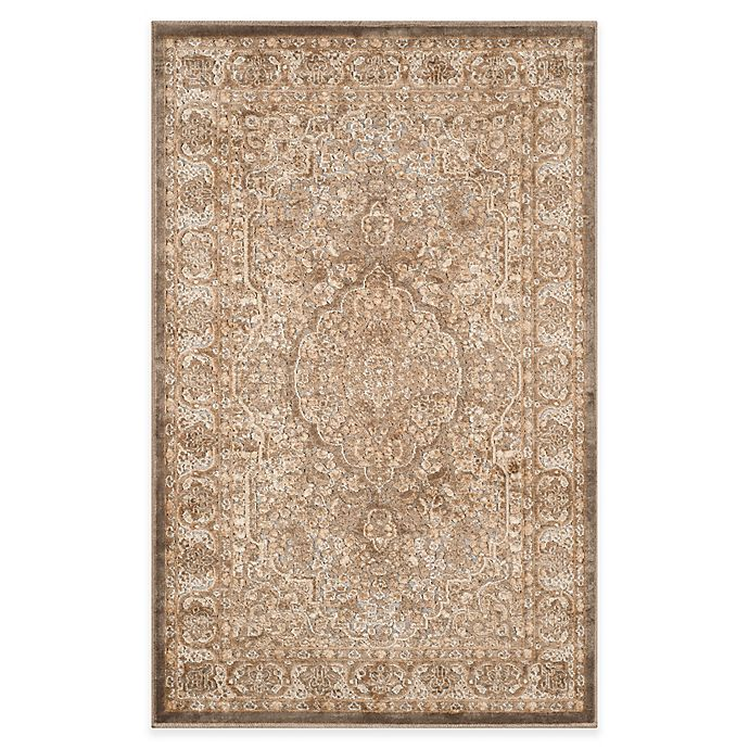 Alternate image 1 for Safavieh Paradise Bloom 4-Foot x 5-Foot 7-Inch Rug in Mouse/Silver