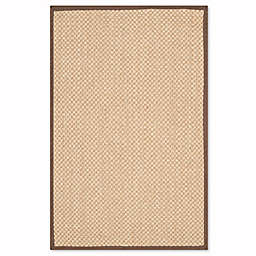 Safavieh Natural Fiber Willow 2-Foot 6-Inch x 4-Foot Area Rug in Maize/Brown