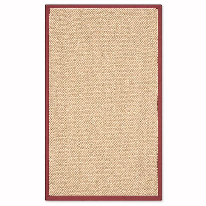 Alternate image 1 for Safavieh Natural Fiber Willow 3-Foot x 5-Foot Area Rug in Maize/Burgundy
