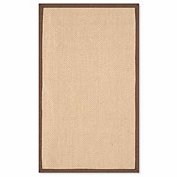 Safavieh Natural Fiber Willow 3-Foot x 5-Foot Area Rug in Maize/Brown