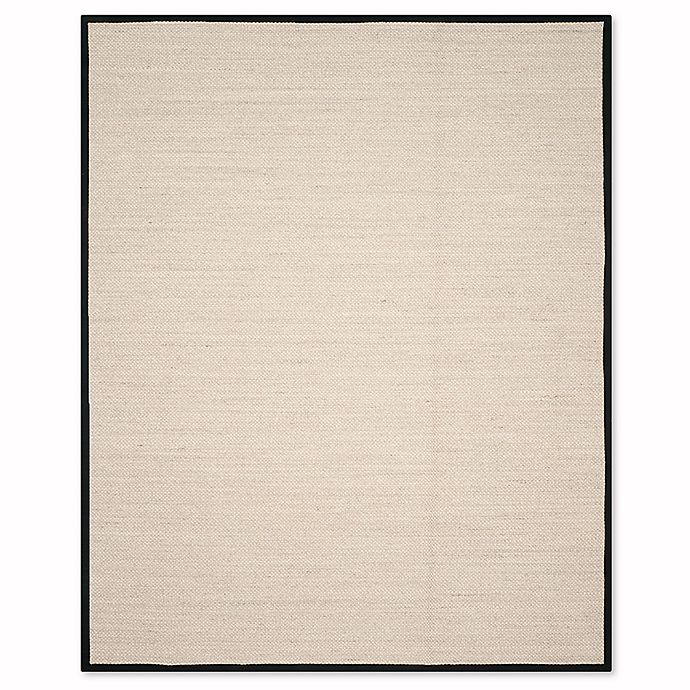 Alternate image 1 for Safavieh Natural Fiber Olivia 8-Foot x 10-Foot Area Rug in Marble/Black