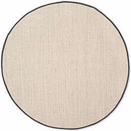 Safavieh Natural Fiber Olivia 6-Foot Round Area Rug in Marble/Dark Grey