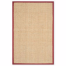 Safavieh Natural Fiber Johanna 5-Foot x 8-Foot Area Rug in Natural/Red