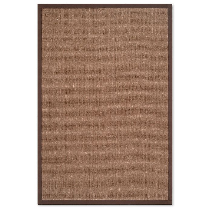 Alternate image 1 for Safavieh Natural Fiber Madeline 4-Foot x 6-Foot Area Rug in Brown