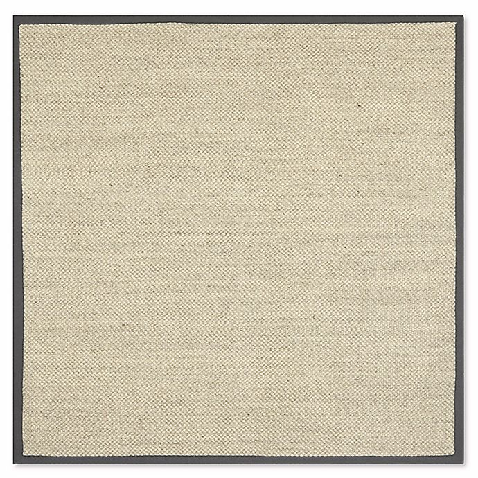 Alternate image 1 for Safavieh Madison Natural Fiber 6-Foot x 6-Foot Area Rug in Marble/Grey