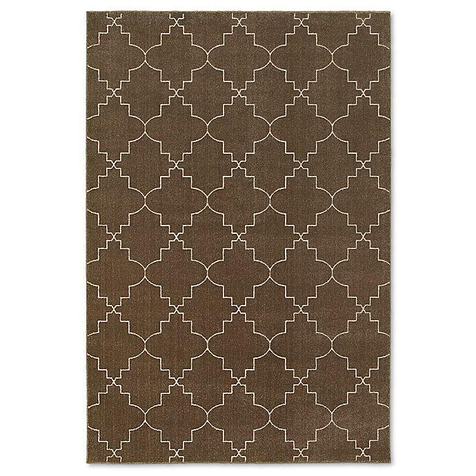 Alternate image 1 for Oriental Weavers Ellerson Posh Area 6-Foot 7-Inch x 9-Foot 6-Inch Rug in Brown