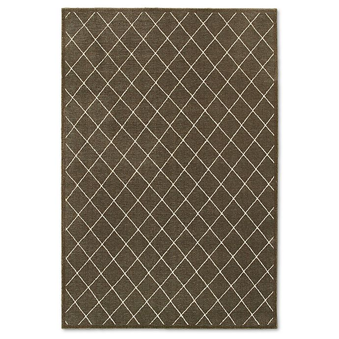 Alternate image 1 for Oriental Weavers Ellerson Trellis 3-Foot 10-inch x 5-Foot 5-Inch Area Rug in Brown