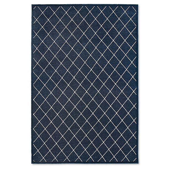 Alternate image 1 for Oriental Weavers Ellerson Trellis 3-Foot 10-Inch x 5-Foot 5-Inch Area Rug in Navy