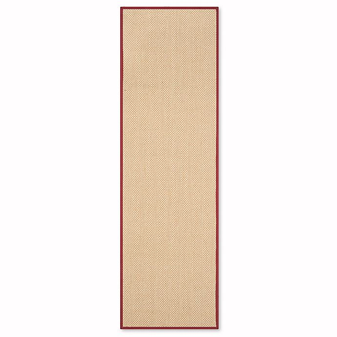 Alternate image 1 for Safavieh Natural Fiber Willow 2-Foot 6-Inch x 12-Foot Runner in Maize/Burgundy