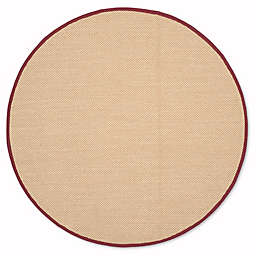 Safavieh Natural Fiber Willow 6-Foot Round Area Rug in Maize/Burgundy