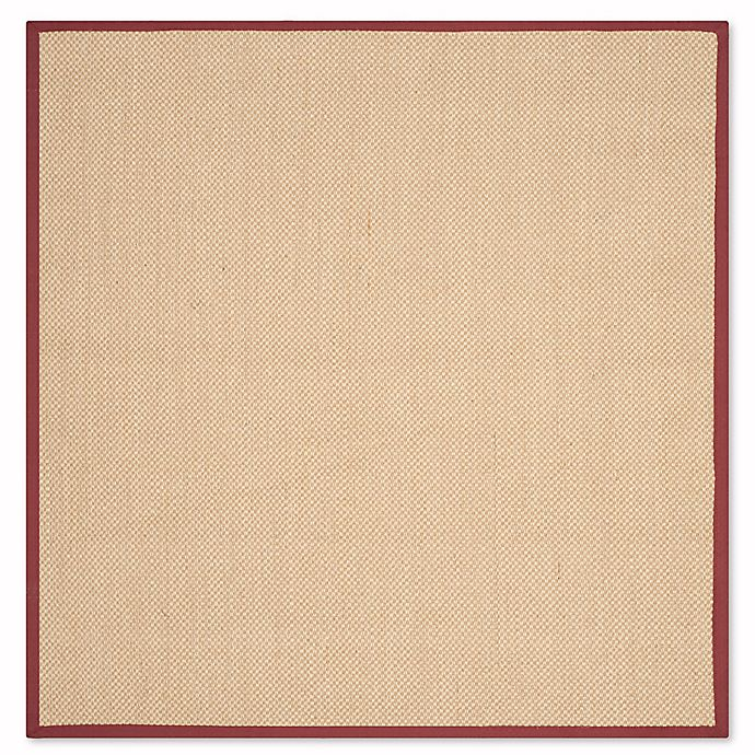 Alternate image 1 for Safavieh Natural Fiber Willow 6-Foot Round Area Rug in Maize/Burgundy
