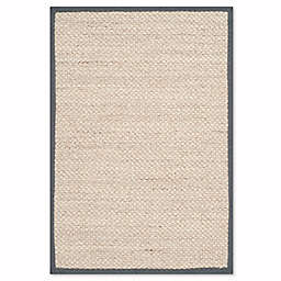 Safavieh Natural Fiber Collection Olivia 2-Foot 6-Inch x 4-Foot Rug in Marble/Dark Grey