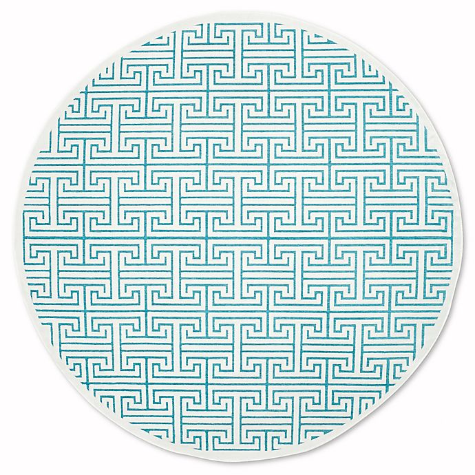 Alternate image 1 for Safavieh Paradise 6-Foot 7-Inch x 6-Foot 7-Inch Adrianne Area Rug in Ivory/Turquoise