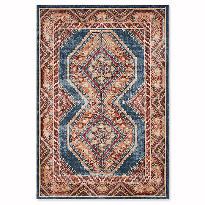 Alternate image 1 for Safavieh Bijar Urmia 6-Foot 7-Inch x 9-Foot Area Rug in Royal/Rust