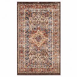 Safavieh Bijar Sari 4-Foot x 6-Foot Area Rug in Brown/Rust
