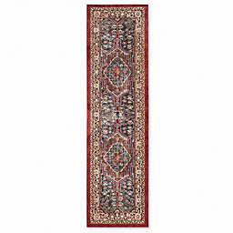 Safavieh Bijar Kermin 2-Foot 3-Inch x 8-Foot Area Rug in Royal/Brown