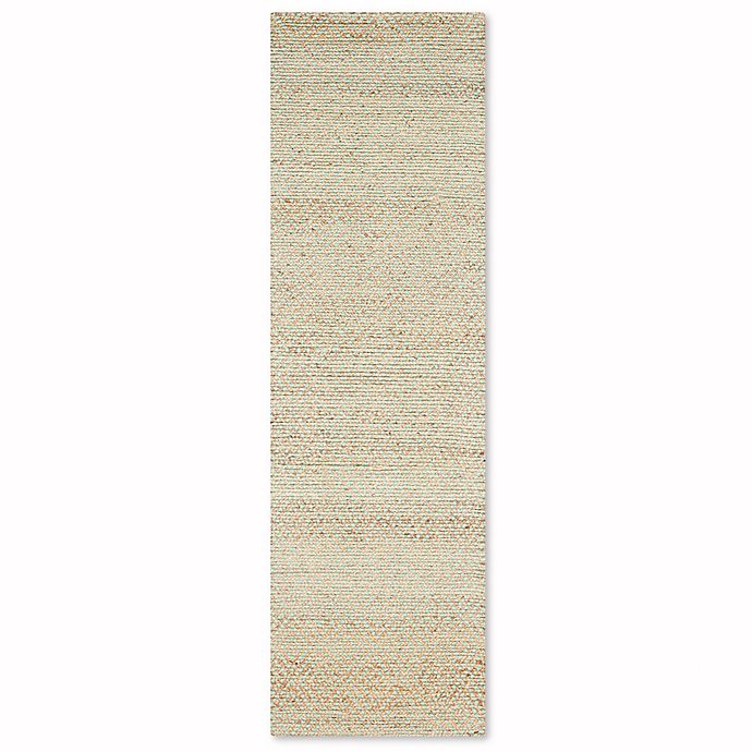 Alternate image 1 for Safavieh Natural Fiber Galina 2-Foot 6-Inch x 8-Foot Runner in Natural/Green