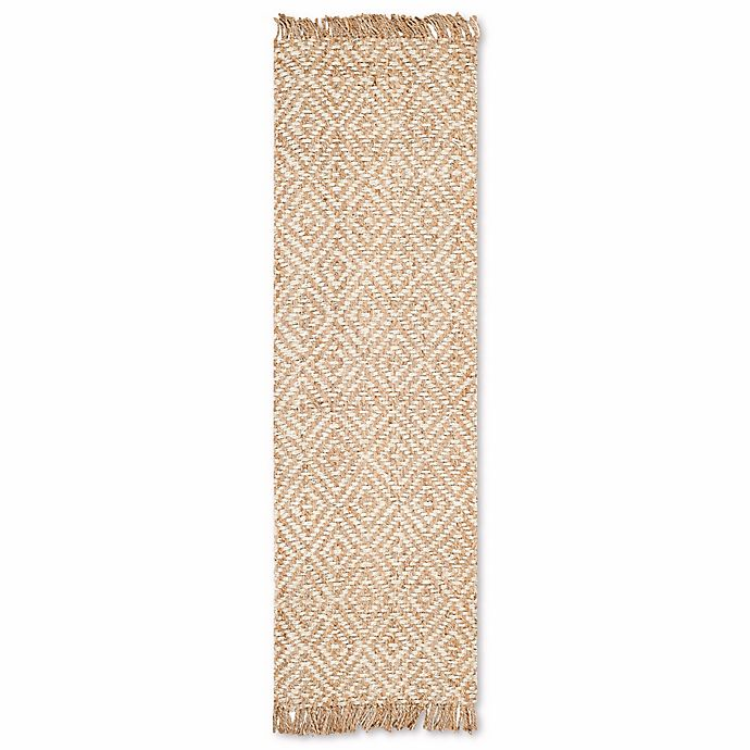 Alternate image 1 for Safavieh Natural Fiber Brie 2-Foot 6-Inch x 12-Foot Runner in Natural/Ivory