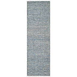Safavieh Natural Fiber 2-Foot x 8-Foot Penelope Rug in Blue/Ivory