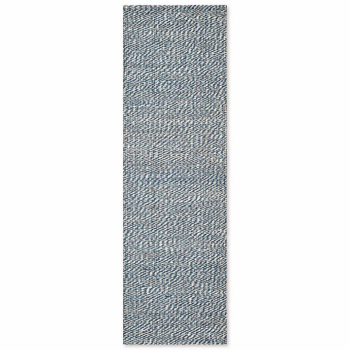 Alternate image 1 for Safavieh Natural Fiber 2-Foot 6-Inch x 12-Foot Penelope Rug in Blue/Ivory