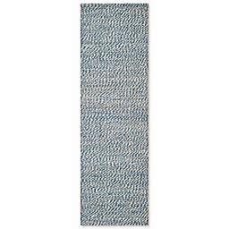 Safavieh Natural Fiber 2-Foot 6-Inch x 12-Foot Penelope Rug in Blue/Ivory