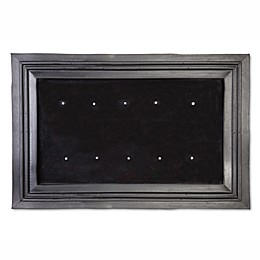 Rubber Door Mat Insert Frame in Black