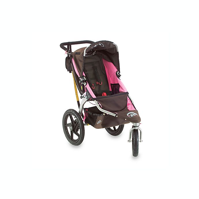 BOB® Revolution Chocolate/Pink Single Jogging Stroller and ...
