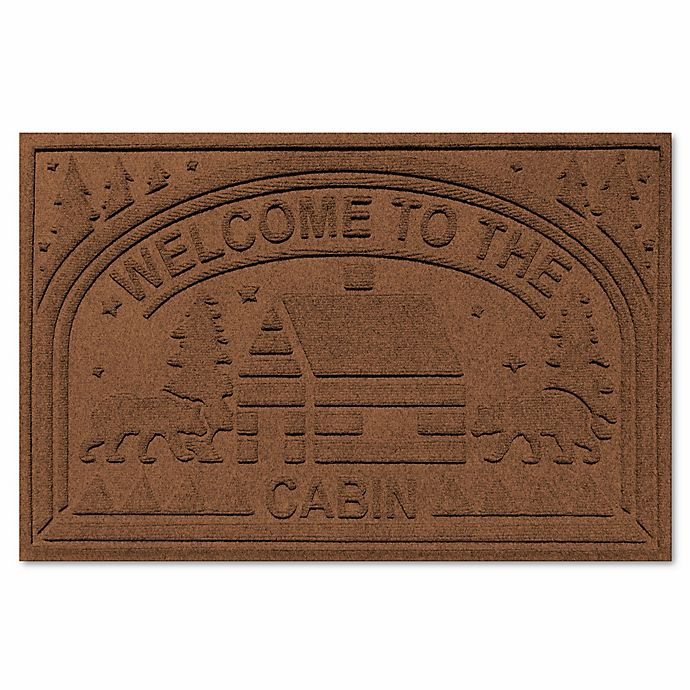 Alternate image 1 for Weather Guard™ Welcome Cabin Floor Mat in Dark Brown