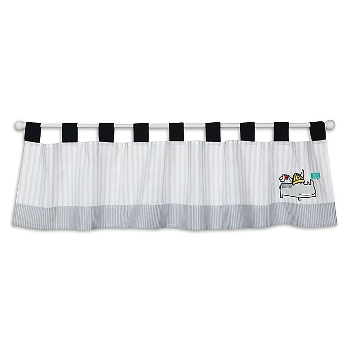 Alternate image 1 for Trend Lab® Hello Window Valance in Grey/White