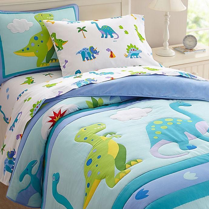 Olive Kids Dinosaur Land Bedding in Blue | buybuy BABY