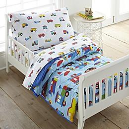 Olive Kids Trains Planes & Trucks Toddler Comforter in Blue