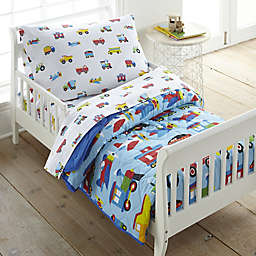 Olive Kids Trains Planes & Trucks Toddler Comforter in Blue