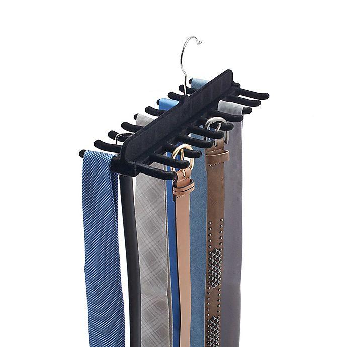 Alternate image 1 for Real Simple Velvet Tie & Belt Hanger in Black