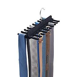 Real Simple 20-Tie & Belt Hanger With Velvet Covering