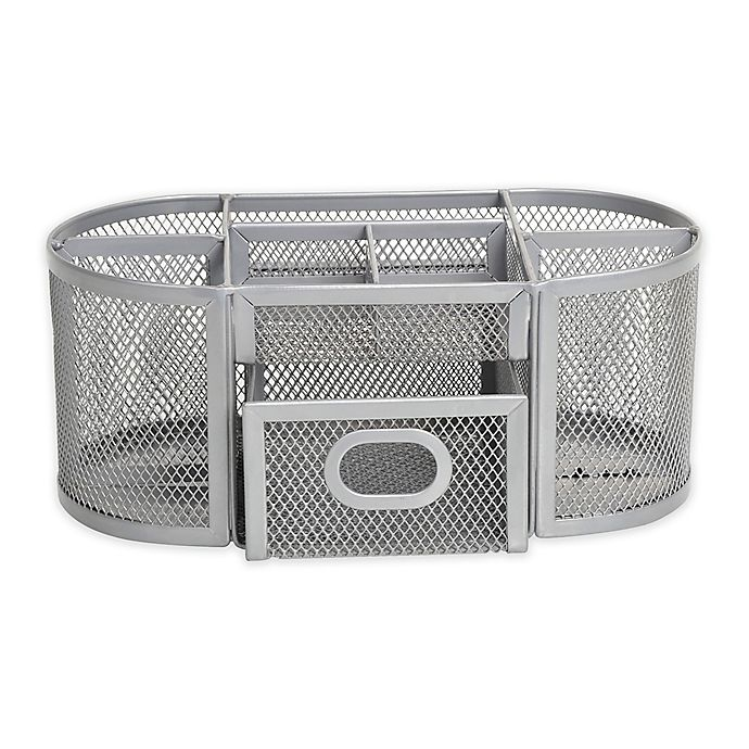 Prime Org Oval Wire Mesh Desk Organizer In Silver Bed Bath Beyond Home Remodeling Inspirations Cosmcuboardxyz