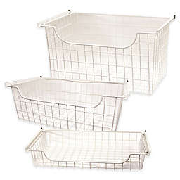 Easy Track Wire Basket in White