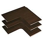 Easy Track 30-Inch Corner Shelves in Truffle (Set of 3)