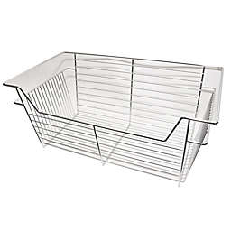 Easy Track 14-Inch Wire Basket in Chrome