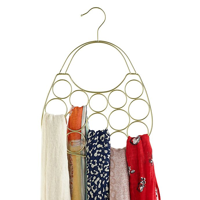 Alternate image 1 for Purse-Shaped Scarf Hanger in Gold