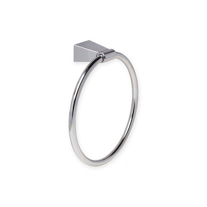 Alternate image 1 for Gatco Bleu Chrome Towel Ring