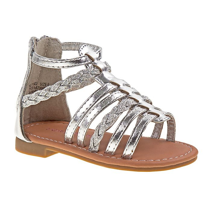 Alternate image 1 for Laura Ashley® Gladiator Sandal in Silver
