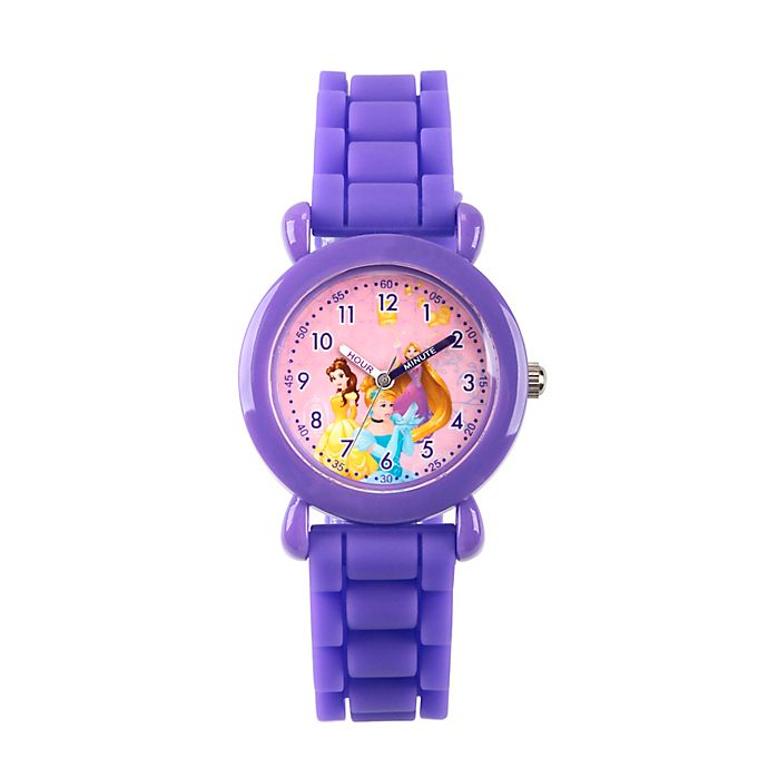 Alternate image 1 for Disney® Children's 32mm Princess Plastic Watch in Purple