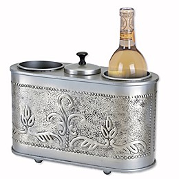 Old Dutch International Antique Embossed Victoria 2-Bottle Wine Chiller in Pewter