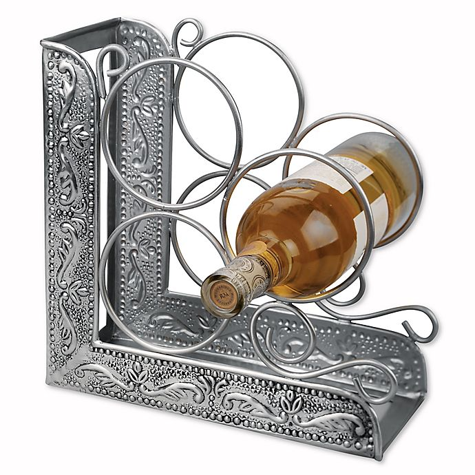 Alternate image 1 for Old Dutch International Embossed Antique Victoria 3-Bottle Bookend Wine Rack