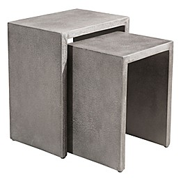 Zuo® Modern Mom Cement Nesting Tables in Grey