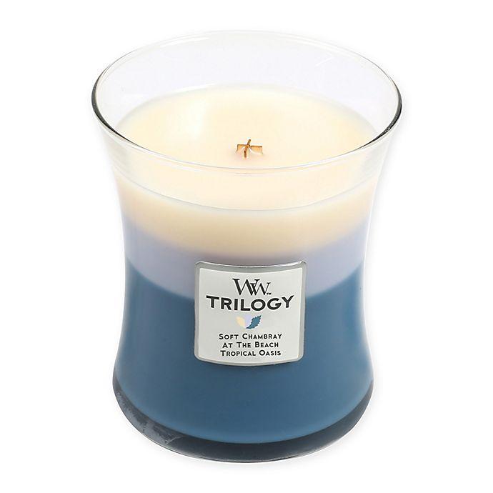 Alternate image 1 for Woodwick® Trilogy Beachfront Cottage Medium Jar Candle