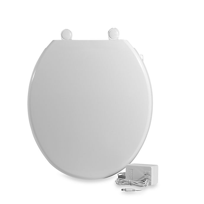 Alternate image 1 for UltraTouch™ Heated Round Toilet Seat in White