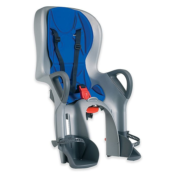 Alternate image 1 for Peg Perego 10+ Rear-Mount Child Bike Seat in Silver/Blue