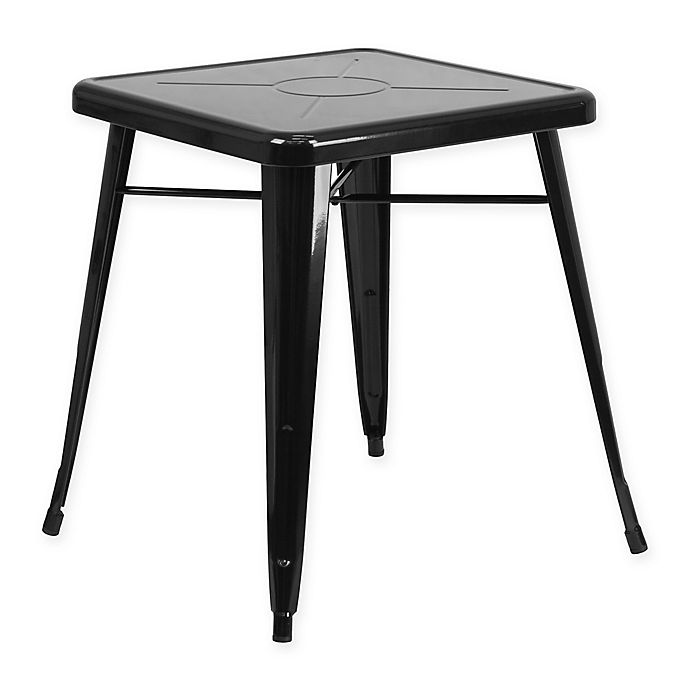 Alternate image 1 for Flash Furniture 27.75-Inch Square Metal Indoor/Outdoor Table in Black